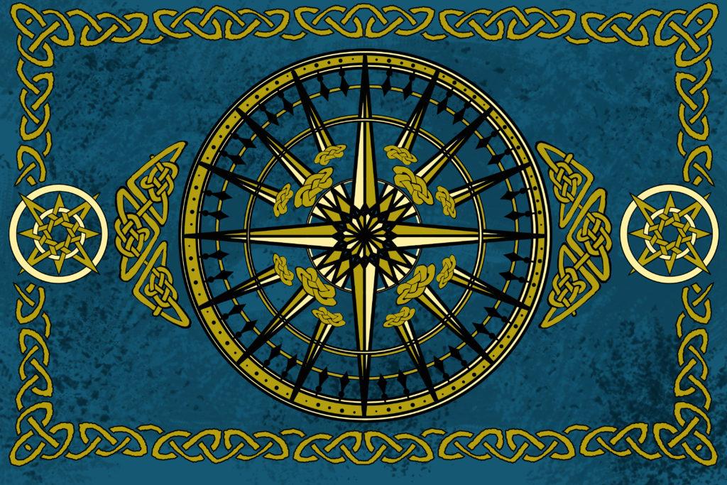 compass rose ocean